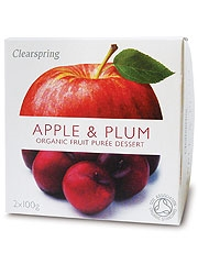 Clearspring Fruit Puree Apple & Plum 2 X100g