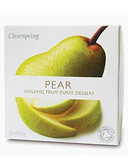 Clearspring Fruit Puree Pear 2 X 100g