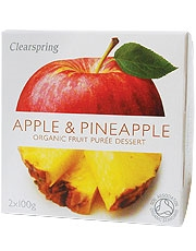 Clearspring Fruit Puree Apple/Pineapple 2 X 100g