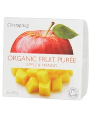 Clearspring Fruit Puree Apple/Mango 2 X 100g