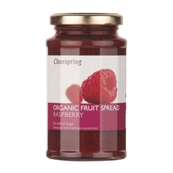 Clearspring Org Fruit Spread Raspberry 290g