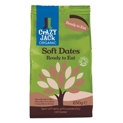 Crazy Jack Organic Soft Dates RTE 250g