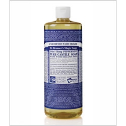 Dr Bronner Peppermint Castile Liquid Soap 946ml