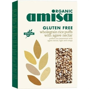 Amisa Whole Rice Puffs Organic GF 225g