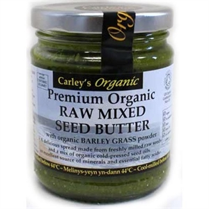 Carley's Org Raw Mx Seed B/Grass Butter 250g