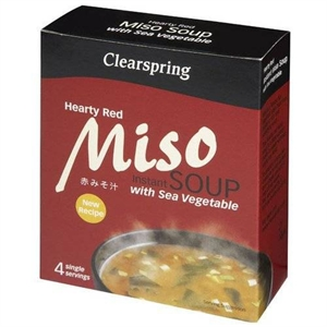 Clearspring Miso Soup Hearty Red + Sea Veg 40g