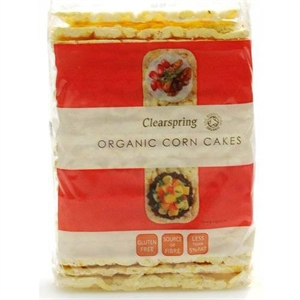 Clearspring Org Puffed Corncakes 130g