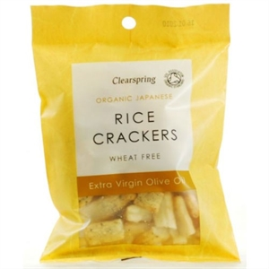 Clearspring Org Rice Crackers Olive Oil 50g