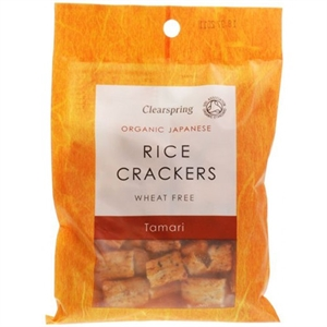 Clearspring Org Rice Crackers Tamari 50g