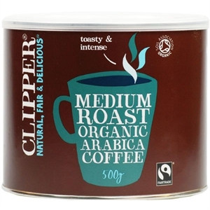 Clipper Arabica Roast Medium Coffee 500g
