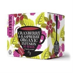 Clipper Cranberry and Raspberry 10bag