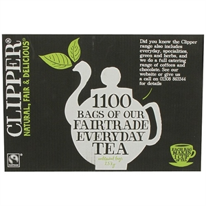 Clipper Fairtrade Everyday One Cup Tea 1100bag