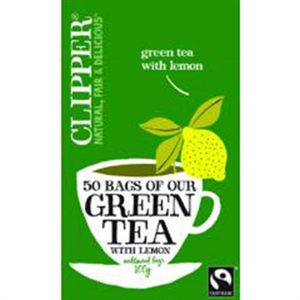Clipper Green Tea Lemon 50bag
