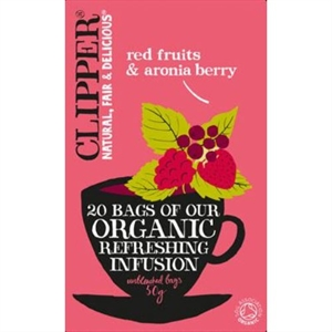 Clipper Org Infusion Red Fruits & Aron 20bag