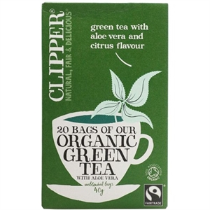 Clipper Organic Green Tea Aloe Vera 20bag