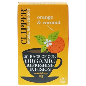 Clipper Organic Orange & Coconut 20bag