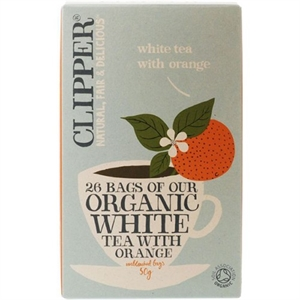 Clipper Organic White Tea Orange 26bag