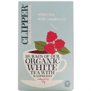 Clipper Organic White Tea Raspberry 26bag