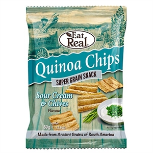Cofresh Eat Real Quin S Crm Chive Chip 80g