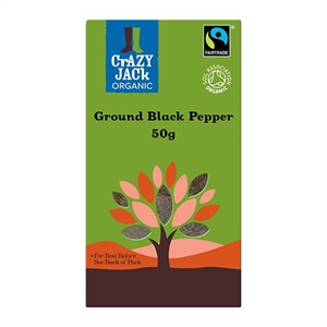 Crazy Jack Black Pepper Ground F/T 50g