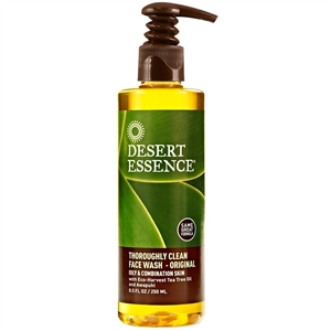 Desert Essence T Clean Face Wash Pump Bottle 240ml
