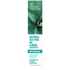 Desert Essence Tea Tree Tpaste Wgreen & Neem 185ml
