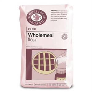 Doves Farm Org Plain Fine W/Meal Flour 1000g
