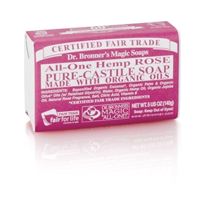 Dr Bronner Org Rose Soap Bar 140g