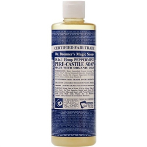 Dr Bronner Peppermint Castile Liquid Soap 237ml
