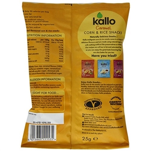 Kallo Corn & Rice Snack Caramel 25g