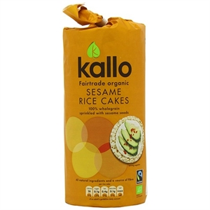 Kallo Org FT Sesame Rice Cakes 130g