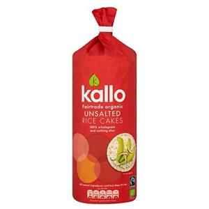 Kallo Org FT Unsalted Rice Cakes 130g